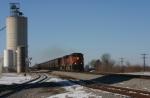 BNSF 1063  EB Grain.
