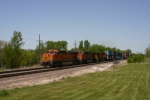 BNSF 4417  Crossing over the BNSF Brookfield Sub.