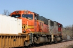 BNSF 8976, I don't think I've ever seen a SD70MAC on a stacktrain on the BNSF before?
