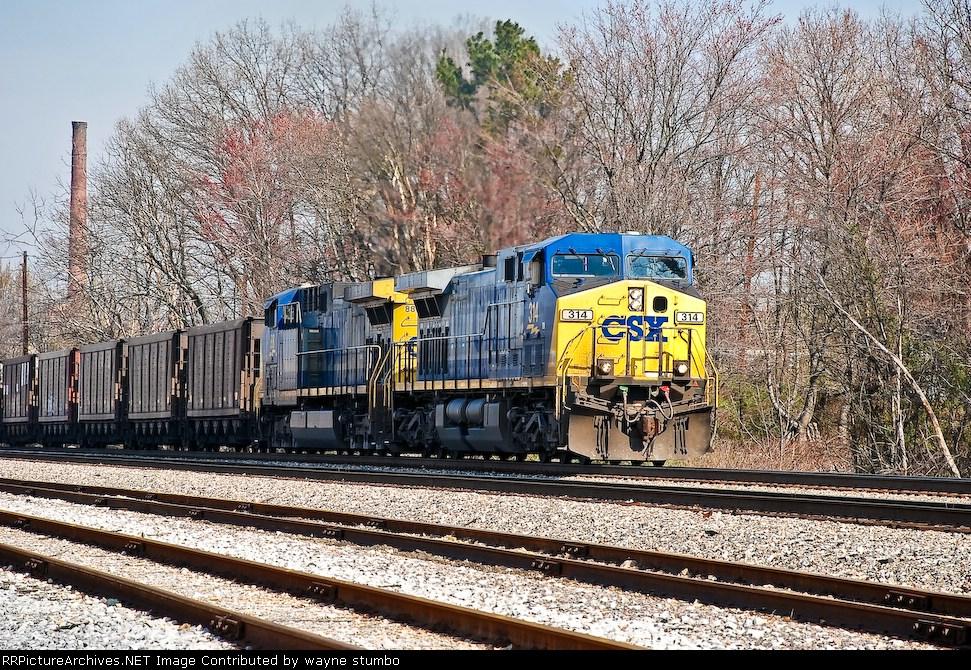CSX N4425 Southbound coal Carter Yard