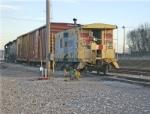 Kingsport Yard, CSX 900022 caboose