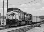 CSX E3325 Northbound Black And White