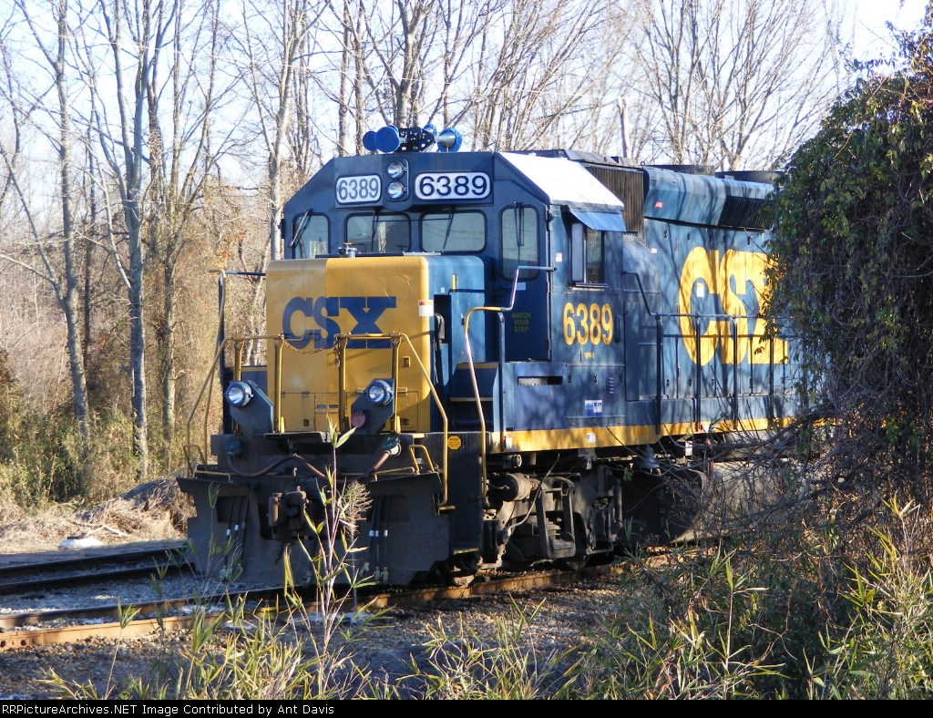 CSX 6389 sits quietly in the Yard