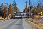 H44 backs across Strawberry Ridge Road
