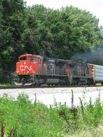 CN 8802 leads a southbound