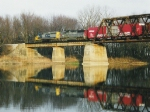 CSX train on the ex Monon Wabash River bridge