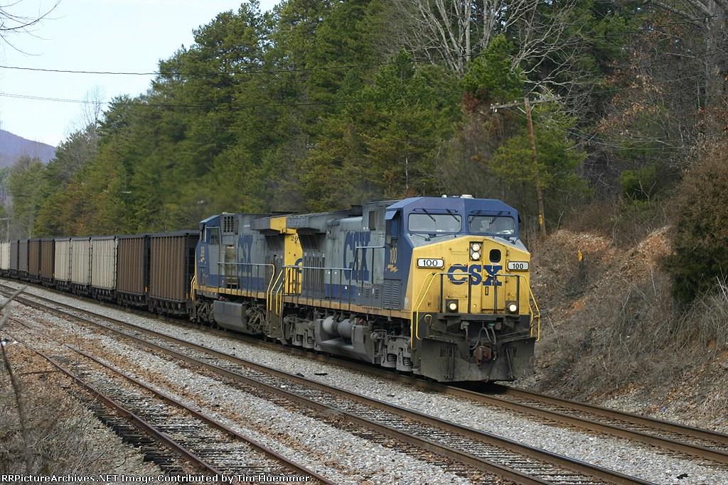 Southbound hopper train rolls through Termal