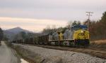 Hopper train meets a freight
