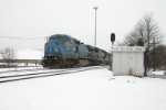 CSX 7918 brings an intermodal north