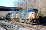 Q370-30 on the old main line with a consisit of CSXT 4764(SD70MAC), CSXT 301(AC44CW) & CSXT 2768(GP38-2) ex-CR 8179(GP38-2)