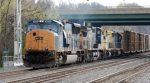 Q373-11 with CSXT 4815(SD70MAC), CSXT 7325(C40-8W), CSXT 1167(MP15AC) ex SCL 4017(MP15AC)& CSXT 4451(GP40-2) ex CR 3398(GP40-2)