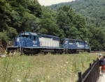 Conrail helper set on Horseshoe Curve