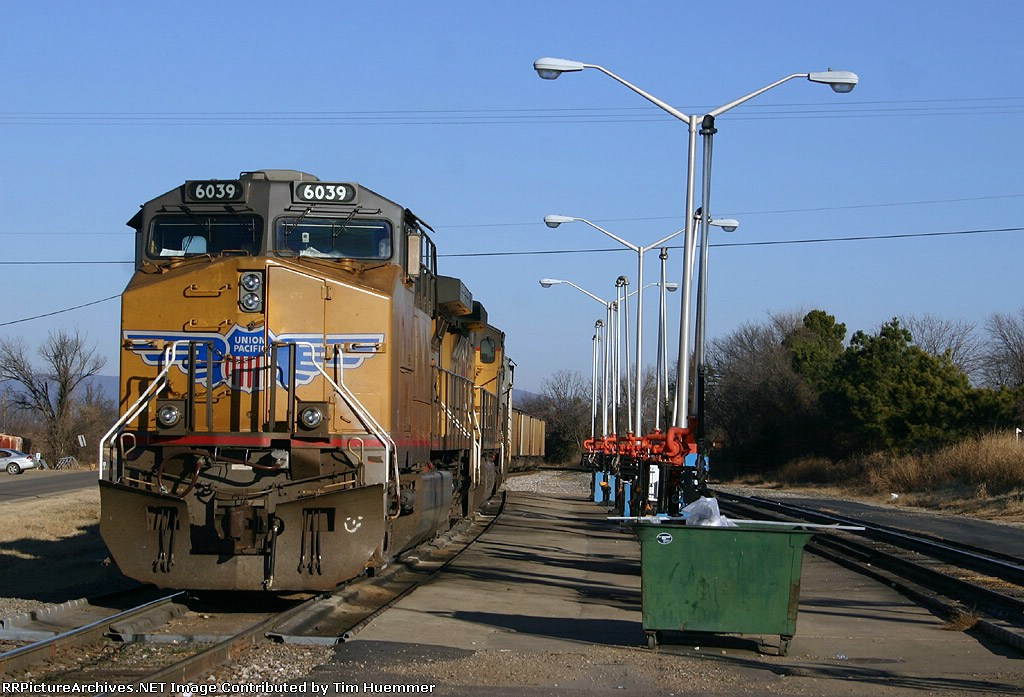 Southbound coal train with UP power