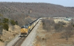 Southbound coal train in the hills of Oklahoma