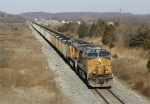 Southbound coal train stretches out along US-75