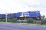 Pandrol Jackson railgrinder train lead power