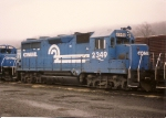 This old GP-35 gets one last hurrah in service, seen at Allentown yard