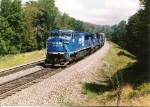 A wstbound van train is seen on # 3 track between CP-UN and CP-MO