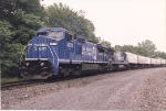 SEAL, led by C40-8W 6270(fmr # 744) rolls south through CP-7 on the River Line