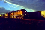 early morning northbound intermodal