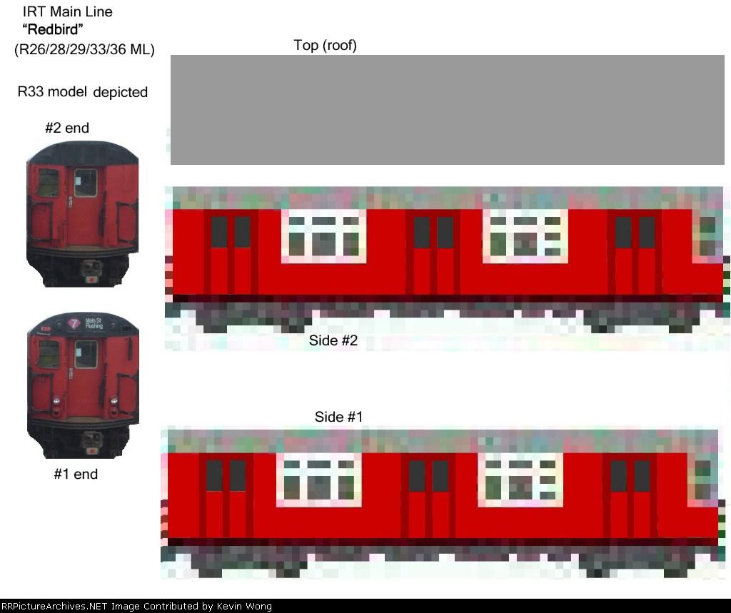 """IRT Mainline """"Redbird"""" cutout model kit"""