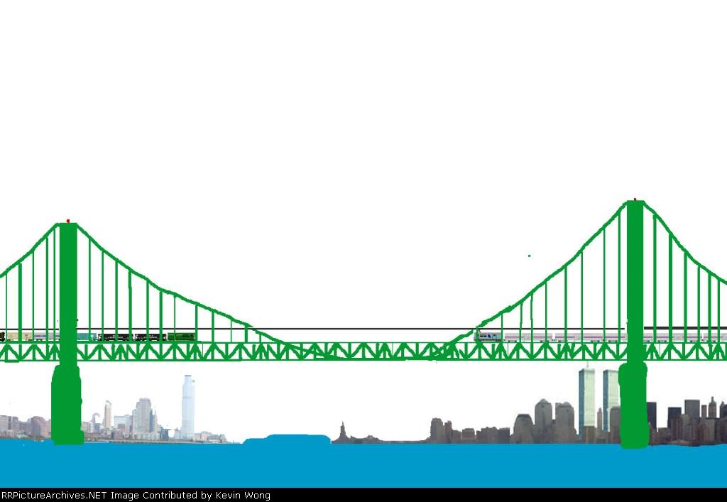 New York Atlantic Railway-Gateway Bridge across New York Harbor