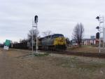 CSX 527 waiting at the Signals