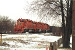 EJE 660, 654, 656, EMD SD38-2, and SD38 trailing unit, southbound