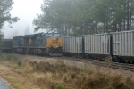 n363 has new rapid discard coal cars as it passes U304