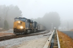 with a green signal U304 heads through the new switch at slighs as he heads into the Zane block