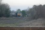 CSx F750 heads toward andrews yard siding as it runs on NS trackage