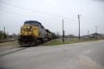 T393-13 moves across the diamond on a grey carolina morning