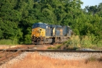 another loaded coal train heads toward andrews yard siding in dpu mode
