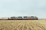 Northbound KCS Loaded Ballast Train