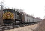Tied Down Northbound KCS Empty Coal Train DPU