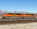 Brand New BNSF SD70ACe's at KCS Knoche Yard
