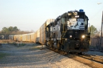 NS P77 is acrossed the diamond and heads toward the andrews yard leads