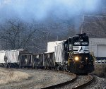 A high nose GP on the local accelerates from the yard in West Tarentum