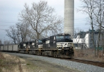 NS 9408 heads westbound with empties at MP 60