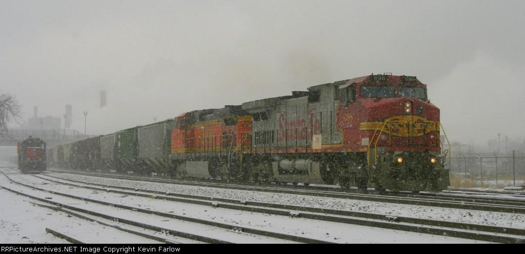 Empty Grain Train from Fresno, CA to Oxford, NE