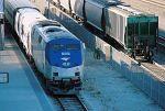 Eastbound Amtrak, westbound grain