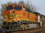 BNSF 5298 leads piggies EB at Victory, WI