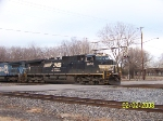NS 9838 leads north bound at 32nd st
