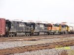 BNSF to NS transfer towing some NS horses