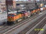 BNSF run through train becoming CSX Q183 heads south