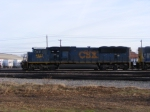 CSX 4827 sits in the yard