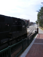 NS 9012 stares down 6th Street while waiting for the Block