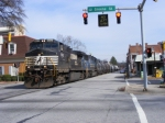 NS 155 is about to cross Greene Street