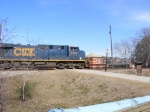 CSX 5330 crosses the small crossing in Augusta Canal Park