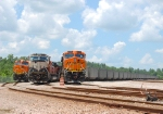 BNSF 6141, 9672, and 6005